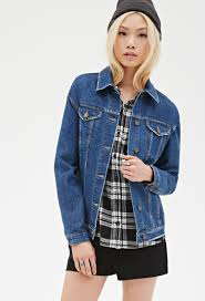 denim jackets for women forever 21 oasis amor fashion leather sleeve denim jacket forever 21