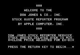 Dow Quote Mesmerizing Dow Jones Amp Co Inc Stock Quote Reporter Program Apple