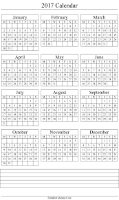 yearly calendar 2017 template calendar 2017 printable template