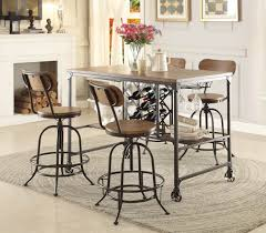 Industrial Counter Height Dining Table Angstrom 5429 36 Industrial 5pc Metal Counter Height Dining Table Set