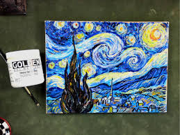 step by step van gogh s starry night using impasto acrylic ums tutorial you