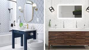 48'' bathroom vanity cabinet and sink combo oak mdf wood w/ mirror. Bathroom Vanity Ideas For Remodeling Lowe S