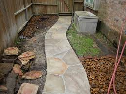 stained concrete patio before and after. Resurfacing Walkway After Picture In Houston Stained Concrete Patio Before And