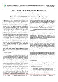 Road Foundation Design Analysis And Design Of Bridge Foundation