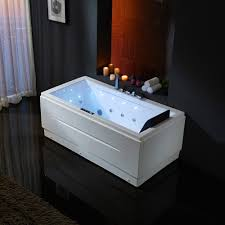 67 modern acrylic white freestanding air whirlpool jetted bathtub rectangular with chromatherapy reversible drain