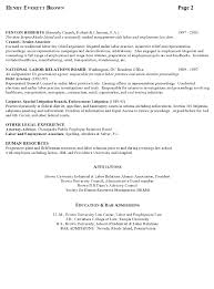 Industrial Relations Policy Template Resume Sample 7 Attorney Resume