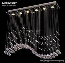 rectangle crystal chandelier light crystal curtain wave lamp for ceiling dining room prompt 100 guanrantee chandelier lamp wrought iron