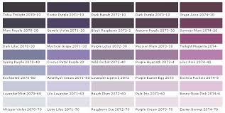 Lavender Paint Colors Chart Paint Chart Chip Sample