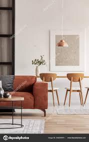 Offenen Wohn Und Esszimmer Interieur Mit Langer Tisch Mit