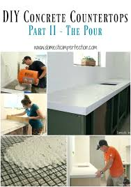 pour concrete countertops in place white concrete detailed tutorial a must read if you have ever