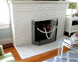 surprising glass tile fireplace surround at brick fireplace ideas orange red black gray and white brick