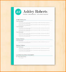 Google Docs Resume Template With Thick Section Separators Resumes