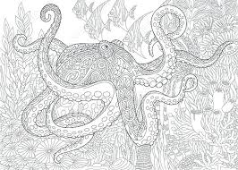Coloring Pages Adults Printable Christmas Free For Sea Animals Ocean