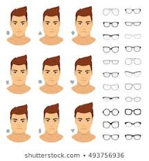 Glasses And Face Shape Chart Oval Face Shape Images Stock Photos Vectors Shutterstock
