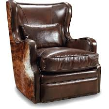 the leather and hair on hide swivel club chair ho cc418 leather swivel club