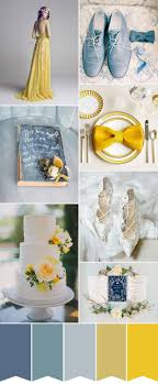 Delicately Chic Wedgwood Blue and Yellow Wedding: Colour Palette