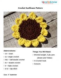Crochet Sunflower Pattern Awesome Free Crochet Sunflower Pattern
