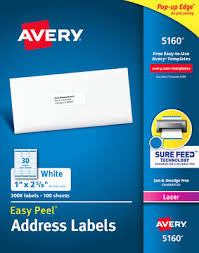 Pres A Ply Templates 10 Boxes 30k Avery 5160 Template Address Labels Pres A Ply Brand