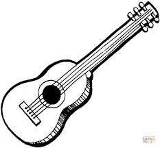 Small Picture Acoustic Guitar coloring page Free Printable Coloring Pages