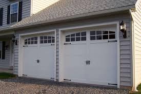 white fiberglass garage doors