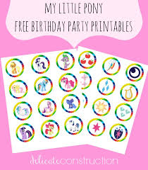 Small Picture My Little Pony Free Birthday Party Printables Delicate Construction