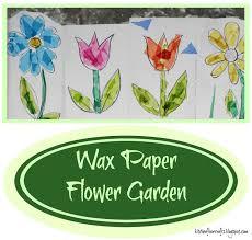 Wax Paper Flower Kitchen Floor Crafts Wax Paper Flower Garden
