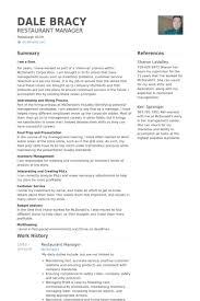 resume for restaurant restaurant manager resume samples visualcv resume samples database