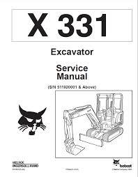 bobcat x 331 excavator service manual pdf repair manual heavy repair manual bobcat x 331 excavator service manual pdf