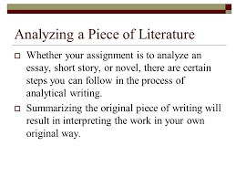 writing the analytical essay ppt 4 analyzing