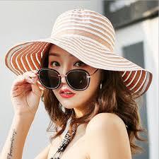 Summer <b>Woman</b> Sun Hat <b>Female</b> stripe Cap <b>Korea Fashion</b> Ride ...