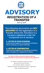 Letters Of Office Companies Office Of Jamaica