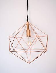 Geometric Pendant Light Rose Gold Geometric Pendant Light Modern Light Fixture