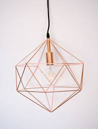 Rose Gold Geometric Pendant Light Modern Light Fixture