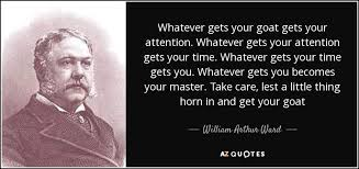 Goat Quotes Stunning William Arthur Ward Quote Whatever Gets Your Goat Gets Your