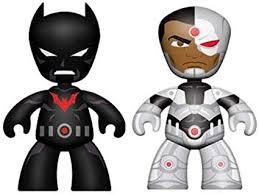 Amazon.com: Mezco Toyz DC Universe Mini Mezitz Batman Beyond/Cyborg (Pack  of 2): Toys & Games