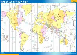 our time zones world map wall maps mapmakers offers poster world map wall poster our wall
