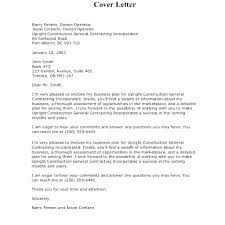 Sample Business Plan Construction Proposal Cover Letter Template