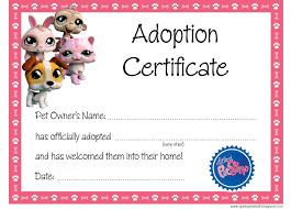 Pet Adoption Certificate Template Printable Pet Birth Certificate Template Pet Adoption