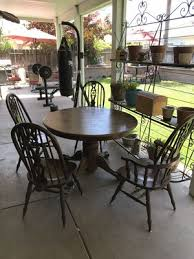 beautiful dining round table solid oak with 4 chairs for in modesto ca