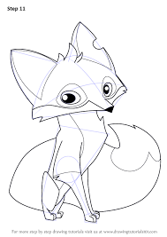 Learn How To Draw Fox From Animal Jam Animal Jam Step By Step