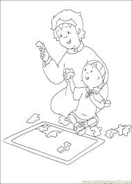 Caillou And Gilbert Coloring Pages Caillou Coloring Pages Page 2