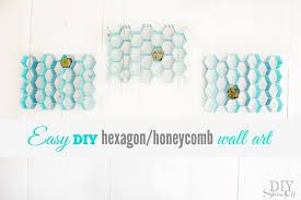 easy diy hexagon wall art at diyshowoff com