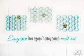 easy diy hexagon wall art at diyshowoff com