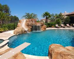 indoor pool house with diving board.  Board Amazing Mediterranean Pool With Diving Board Slide Waterfal And Jumping  Rock Awesome Swimming For Indoor House