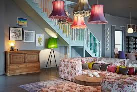 extra large drum lamp shade with eclectic living room also area rug colourful dresser floor lamp