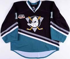 Jersey Ducks Worn Anaheim Game