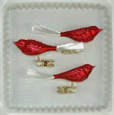 Details Zu Vögel Glas Rot Matt Christbaumschmuck Lauschaer Glas Das Original