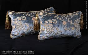 Elegant Home Decor Accents Scalamandre Sculpted Silk Velvet Lee Jofa Elegant Accent Pillows 56