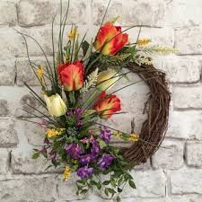 spring wreath for front doorButterfly Summer Wreath Front Door from AdorabellaWreaths on