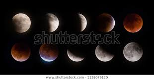 Total Supermoon Lunar Eclipse Known Blood Stock Photo Edit
